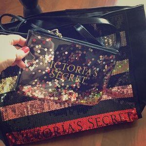 🆕Victoria secret . Beach 🏝 bag with wallet . New